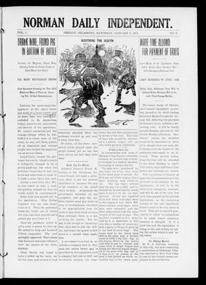 Primary view of object titled 'Norman Daily Independent. (Norman, Okla.), Vol. 1, No. 6, Ed. 1 Saturday, January 9, 1909'.