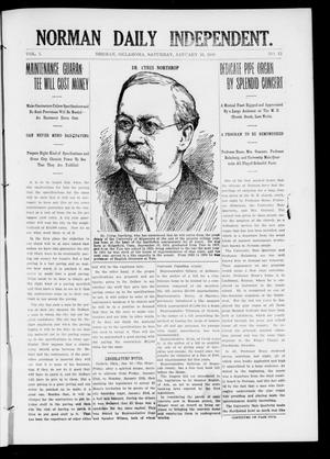 Primary view of object titled 'Norman Daily Independent. (Norman, Okla.), Vol. 1, No. 12, Ed. 1 Saturday, January 16, 1909'.