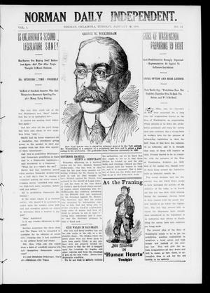 Primary view of object titled 'Norman Daily Independent. (Norman, Okla.), Vol. 1, No. 14, Ed. 1 Tuesday, January 19, 1909'.