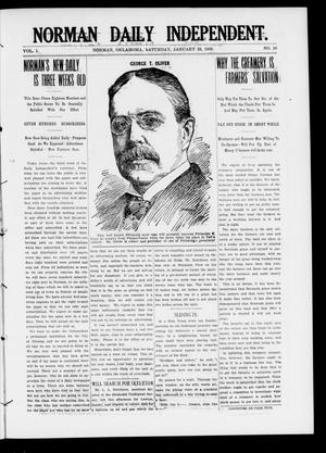 Primary view of object titled 'Norman Daily Independent. (Norman, Okla.), Vol. 1, No. 18, Ed. 1 Saturday, January 23, 1909'.