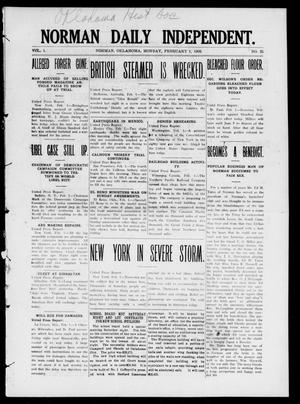 Norman Daily Independent. (Norman, Okla.), Vol. 1, No. 25, Ed. 1 Monday, February 1, 1909
