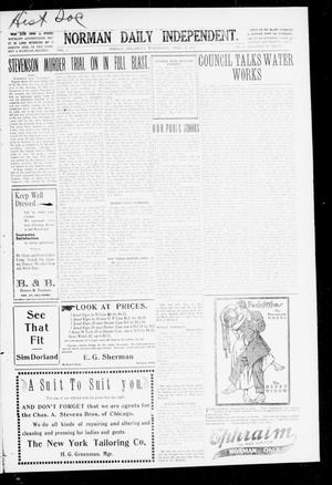 Primary view of object titled 'Norman Daily Independent. (Norman, Okla.), Vol. 1, No. 87, Ed. 1 Wednesday, April 14, 1909'.