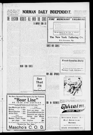 Primary view of object titled 'Norman Daily Independent. (Norman, Okla.), Vol. 1, No. 100, Ed. 1 Thursday, April 29, 1909'.
