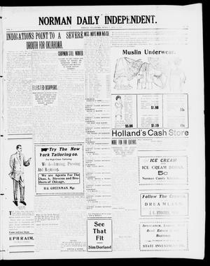 Primary view of object titled 'Norman Daily Independent. (Norman, Okla.), Vol. 1, No. 103, Ed. 1 Monday, May 3, 1909'.