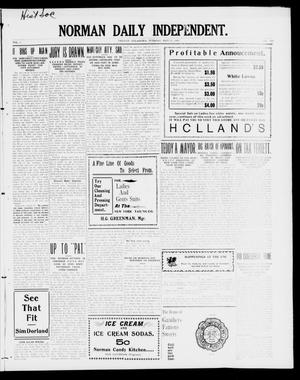 Primary view of object titled 'Norman Daily Independent. (Norman, Okla.), Vol. 1, No. 110, Ed. 1 Tuesday, May 11, 1909'.
