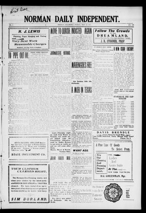 Primary view of object titled 'Norman Daily Independent. (Norman, Okla.), Vol. 1, No. 125, Ed. 1 Friday, May 28, 1909'.