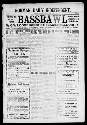 Norman Daily Independent. (Norman, Okla.), Vol. 1, No. 129, Ed. 1 Tuesday, June 1, 1909