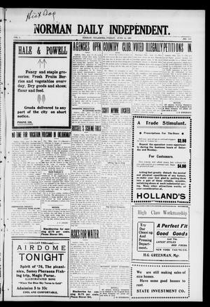 Norman Daily Independent. (Norman, Okla.), Vol. 1, No. 139, Ed. 1 Friday, June 11, 1909