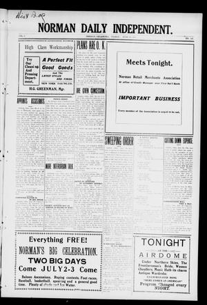 Norman Daily Independent. (Norman, Okla.), Vol. 1, No. 143, Ed. 1 Friday, June 18, 1909