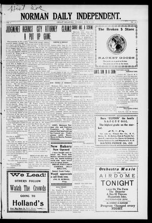 Norman Daily Independent. (Norman, Okla.), Vol. 1, No. 148, Ed. 1 Tuesday, June 22, 1909