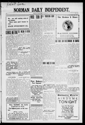 Norman Daily Independent. (Norman, Okla.), Vol. 1, No. 149, Ed. 1 Wednesday, June 23, 1909