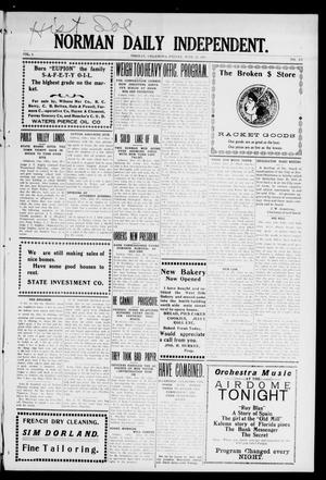 Primary view of object titled 'Norman Daily Independent. (Norman, Okla.), Vol. 1, No. 151, Ed. 1 Friday, June 25, 1909'.