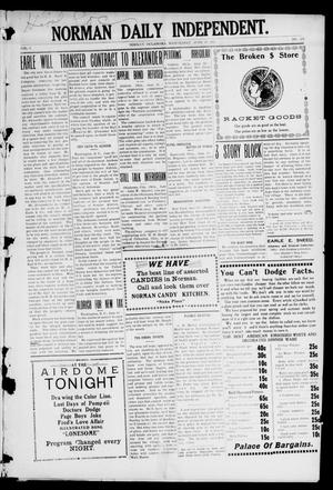 Norman Daily Independent. (Norman, Okla.), Vol. 1, No. 155, Ed. 1 Wednesday, June 30, 1909