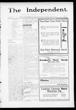 Primary view of object titled 'The Independent. (Cashion, Okla.), Vol. 3, No. 3, Ed. 1 Thursday, May 26, 1910'.