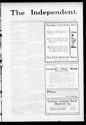 Primary view of object titled 'The Independent. (Cashion, Okla.), Vol. 3, No. 5, Ed. 1 Thursday, June 9, 1910'.