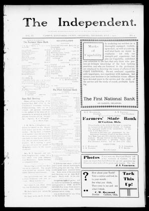 Primary view of object titled 'The Independent. (Cashion, Okla.), Vol. 3, No. 9, Ed. 1 Thursday, July 7, 1910'.