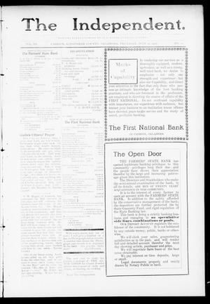 Primary view of object titled 'The Independent. (Cashion, Okla.), Vol. 3, No. 10, Ed. 1 Thursday, July 14, 1910'.