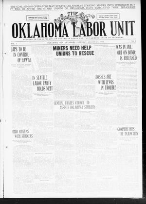 Primary view of object titled 'The Oklahoma Labor Unit (Oklahoma City, Okla.), Vol. 2, No. 8, Ed. 1 Saturday, August 13, 1910'.