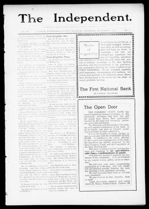Primary view of object titled 'The Independent. (Cashion, Okla.), Vol. 3, No. 17, Ed. 1 Thursday, September 1, 1910'.