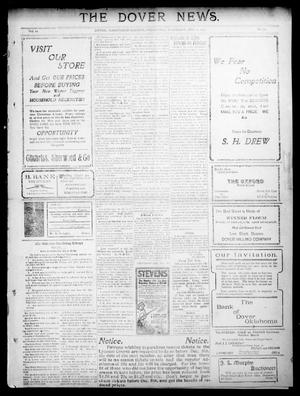 Primary view of object titled 'The Dover News. (Dover, Okla.), Vol. 10, No. 39, Ed. 1 Thursday, December 1, 1910'.