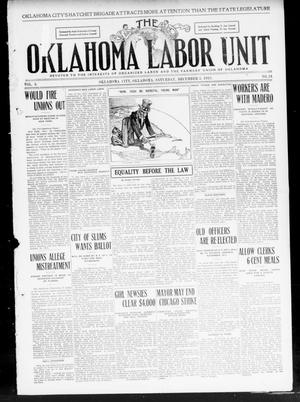 Primary view of object titled 'The Oklahoma Labor Unit (Oklahoma City, Okla.), Vol. 2, No. 24, Ed. 1 Saturday, December 3, 1910'.