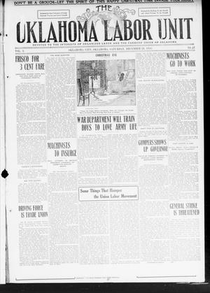 The Oklahoma Labor Unit (Oklahoma City, Okla.), Vol. 2, No. 27, Ed. 1 Saturday, December 24, 1910