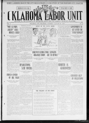 Primary view of object titled 'The Oklahoma Labor Unit (Oklahoma City, Okla.), Vol. 2, No. 32, Ed. 1 Saturday, January 28, 1911'.