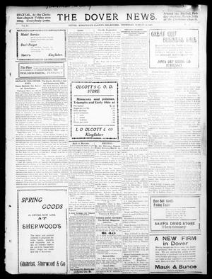Primary view of object titled 'The Dover News. (Dover, Okla.), Vol. 11, No. 3, Ed. 1 Thursday, March 23, 1911'.