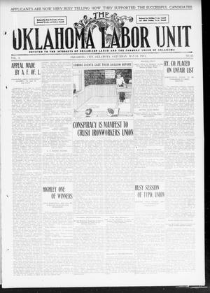 Primary view of object titled 'The Oklahoma Labor Unit (Oklahoma City, Okla.), Vol. 2, No. 48, Ed. 1 Saturday, May 13, 1911'.