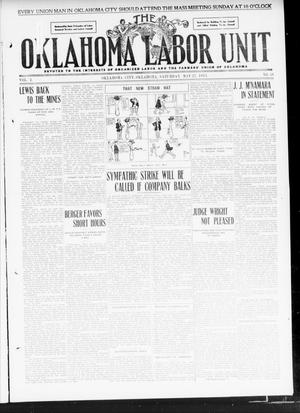 Primary view of object titled 'The Oklahoma Labor Unit (Oklahoma City, Okla.), Vol. 2, No. 50, Ed. 1 Saturday, May 27, 1911'.
