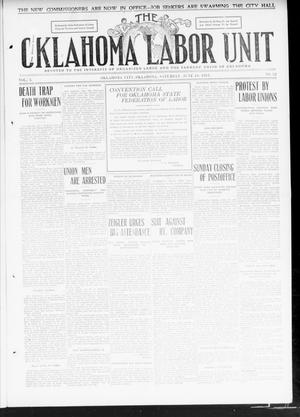 Primary view of object titled 'The Oklahoma Labor Unit (Oklahoma City, Okla.), Vol. 2, No. 52, Ed. 1 Saturday, June 10, 1911'.