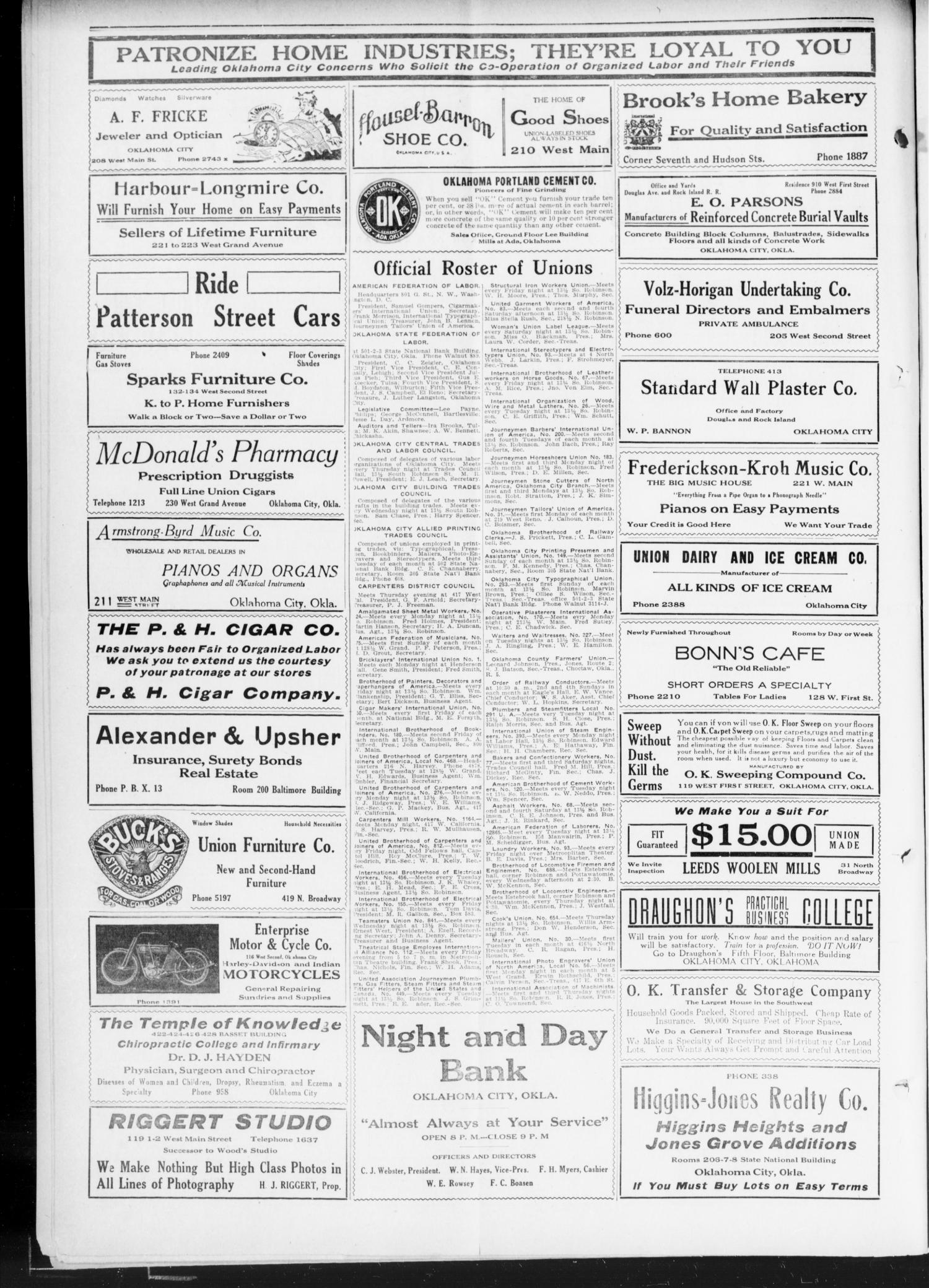 The Oklahoma Labor Unit (Oklahoma City, Okla.), Vol. 3, No. 1, Ed. 1 Saturday, June 17, 1911                                                                                                      [Sequence #]: 2 of 8