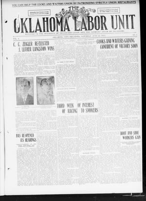 Primary view of object titled 'The Oklahoma Labor Unit (Oklahoma City, Okla.), Vol. 3, No. 3, Ed. 1 Saturday, June 24, 1911'.