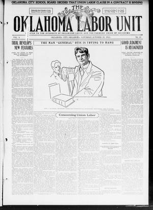 The Oklahoma Labor Unit (Oklahoma City, Okla.), Vol. 3, No. 21, Ed. 1 Saturday, October 28, 1911