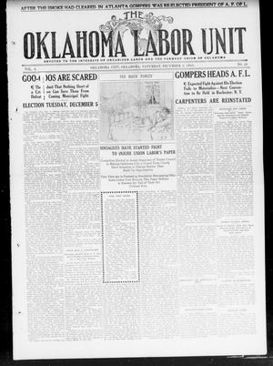 Primary view of object titled 'The Oklahoma Labor Unit (Oklahoma City, Okla.), Vol. 3, No. 26, Ed. 1 Saturday, December 2, 1911'.
