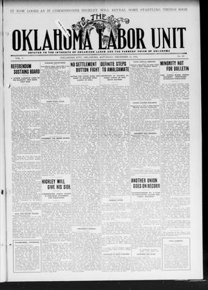Primary view of object titled 'The Oklahoma Labor Unit (Oklahoma City, Okla.), Vol. 3, No. 29, Ed. 1 Saturday, December 23, 1911'.