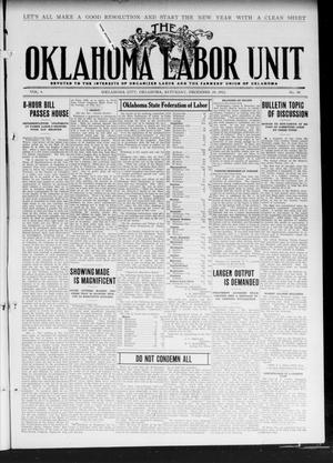Primary view of object titled 'The Oklahoma Labor Unit (Oklahoma City, Okla.), Vol. 3, No. 30, Ed. 1 Saturday, December 30, 1911'.