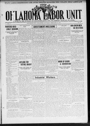 The Oklahoma Labor Unit (Oklahoma City, Okla.), Vol. 3, No. 36, Ed. 1 Saturday, February 10, 1912