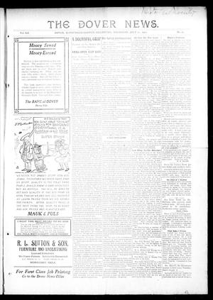Primary view of object titled 'The Dover News. (Dover, Okla.), Vol. 12, No. 21, Ed. 1 Thursday, July 25, 1912'.