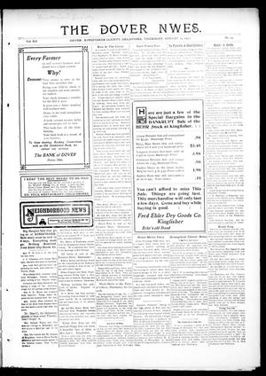 Primary view of object titled 'The Dover News. (Dover, Okla.), Vol. 12, No. 24, Ed. 1 Thursday, August 15, 1912'.