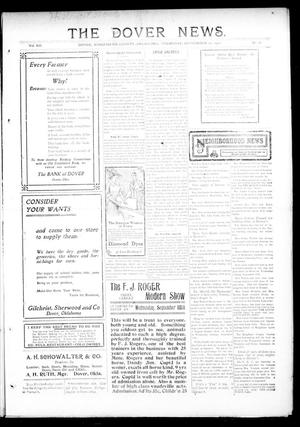 Primary view of object titled 'The Dover News. (Dover, Okla.), Vol. 12, No. 28, Ed. 1 Thursday, September 12, 1912'.