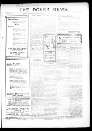 Primary view of object titled 'The Dover News. (Dover, Okla.), Vol. 12, No. 29, Ed. 1 Thursday, September 19, 1912'.