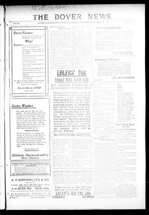 Primary view of object titled 'The Dover News. (Dover, Okla.), Vol. 12, No. 30, Ed. 1 Thursday, September 26, 1912'.