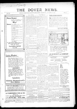 Primary view of object titled 'The Dover News. (Dover, Okla.), Vol. 12, No. 32, Ed. 1 Thursday, October 10, 1912'.