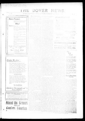 Primary view of object titled 'The Dover News. (Dover, Okla.), Vol. 12, No. 37, Ed. 1 Thursday, November 14, 1912'.
