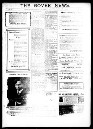 Primary view of object titled 'The Dover News. (Dover, Okla.), Vol. 12, No. 44, Ed. 1 Thursday, January 2, 1913'.