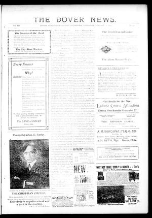 Primary view of object titled 'The Dover News. (Dover, Okla.), Vol. 12, No. 46, Ed. 1 Thursday, January 16, 1913'.