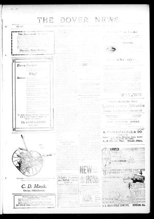 Primary view of object titled 'The Dover News. (Dover, Okla.), Vol. 12, No. 47, Ed. 1 Thursday, January 23, 1913'.