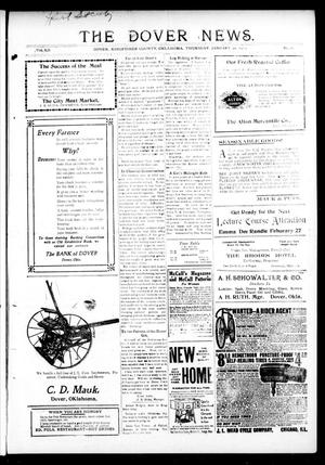 Primary view of object titled 'The Dover News. (Dover, Okla.), Vol. 12, No. 48, Ed. 1 Thursday, January 30, 1913'.