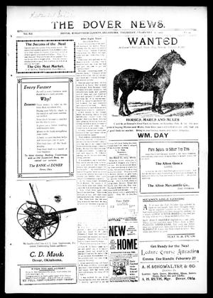 Primary view of object titled 'The Dover News. (Dover, Okla.), Vol. 12, No. 49, Ed. 1 Thursday, February 6, 1913'.